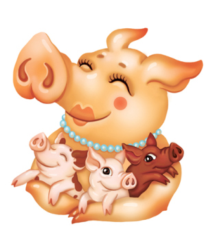 01_pigs-family