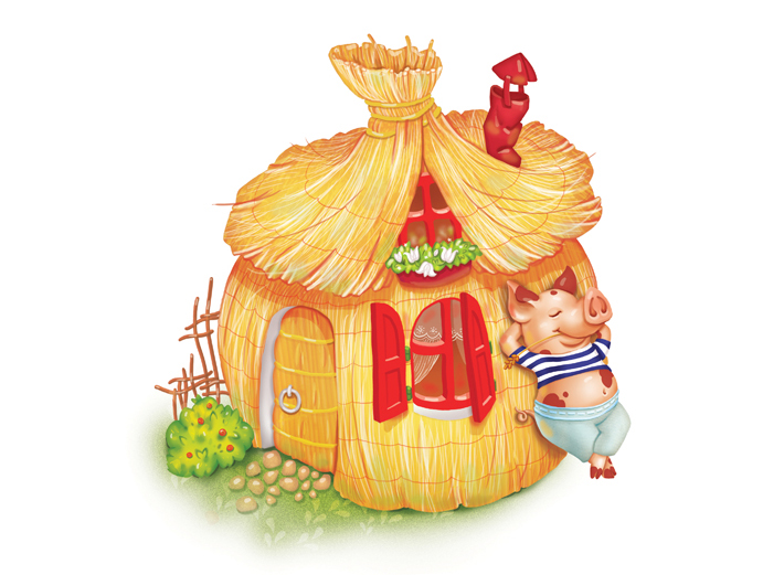 Pics For > The Three Little Pigs Straw House