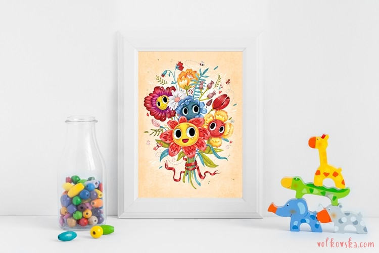 Print-mockup-series-Nursery-animals-8x10-16x20-4-5-ratio